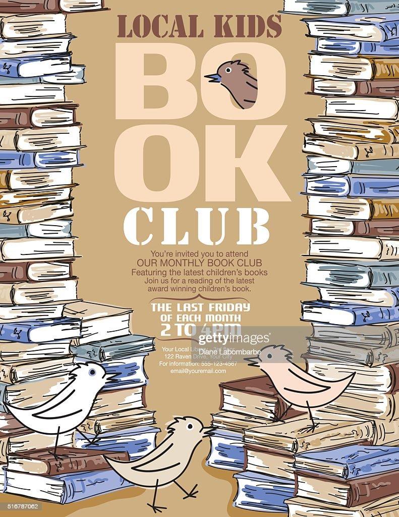 Bright Children's Book Club Poster Template