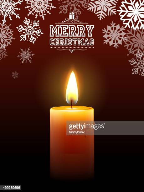 bright christmas candle
