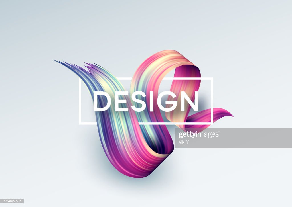 Bright Color Paint Stains for Modern Poster. Tranding design. Vector illustration