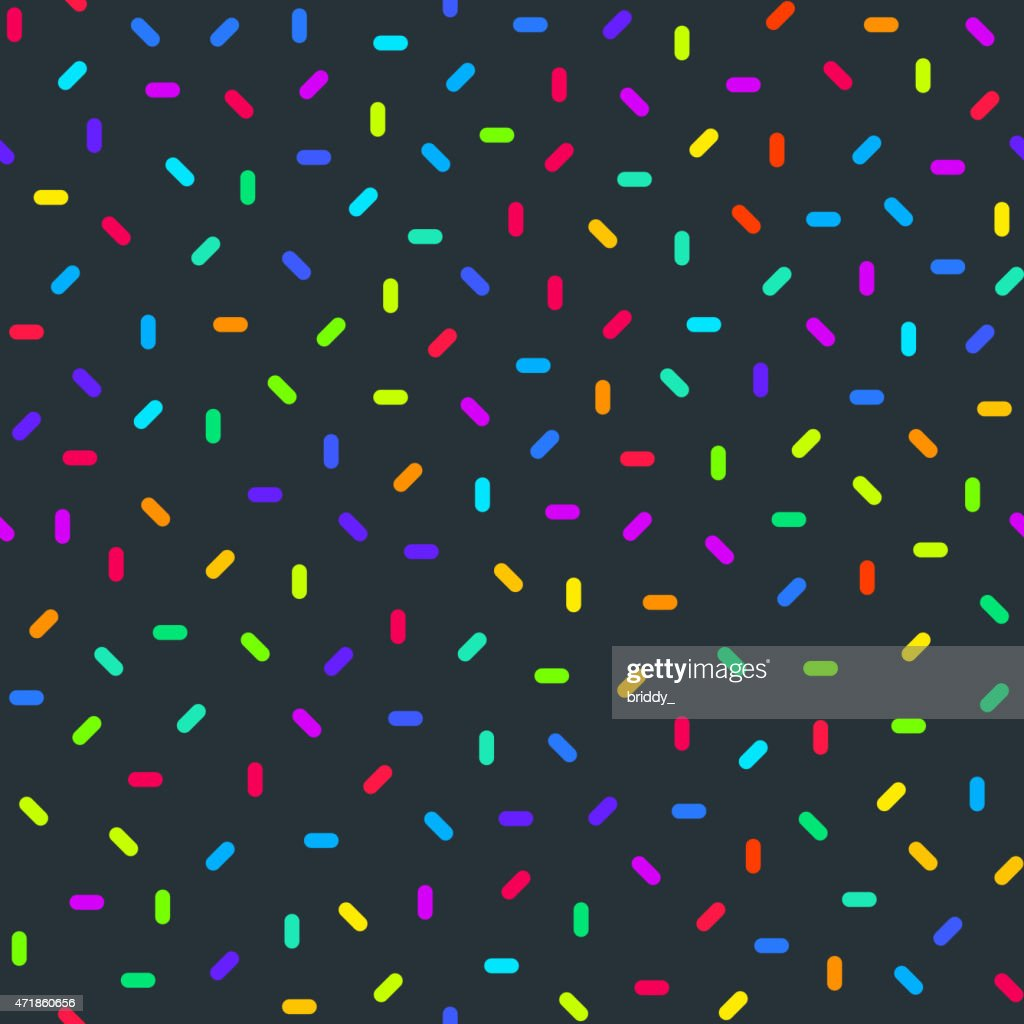 Bright Colorful Abstract Seamless Pattern with Confetti
