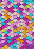 Bright Colorful Background with Fish Scale Texture.