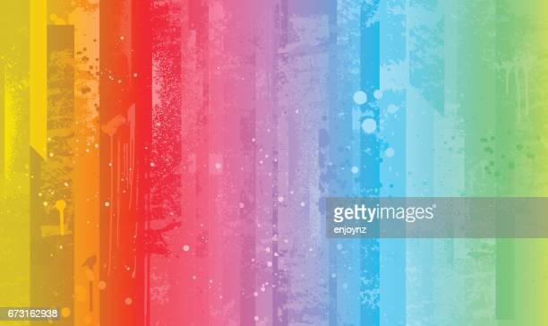 bright colorful rainbow background - rainbow stock illustrations, clip art, cartoons, & icons