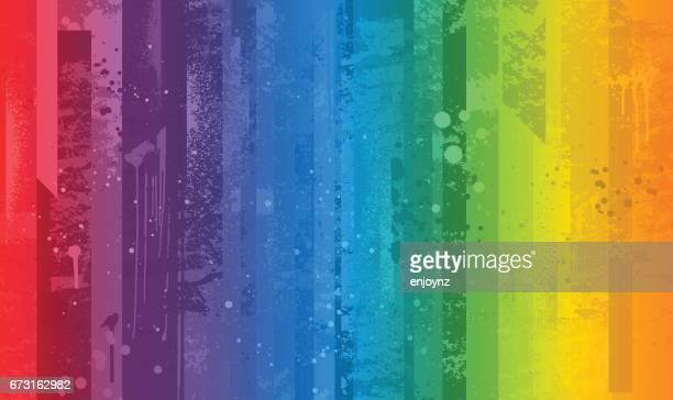 明るいカラフルな虹の背景 - ゲイプライドのシンボル点のイラスト素材/クリップアート素材/マンガ素材/アイコン素材