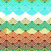 Bright colorful seamless pattern circles neon lights Brown claret green blue print, Geo hipster backdrop modern trendy Geometric abstract background for site, blog, fabric. Vector