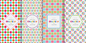 Bright colorful seamless patterns for baby style