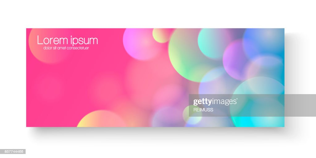 Bright colorful vector banner. Bright colorful vector banner template or website headers with abstract geometric bokeh background.