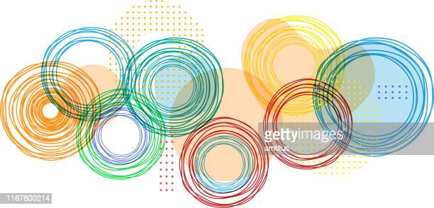 bright colors - circle stock illustrations