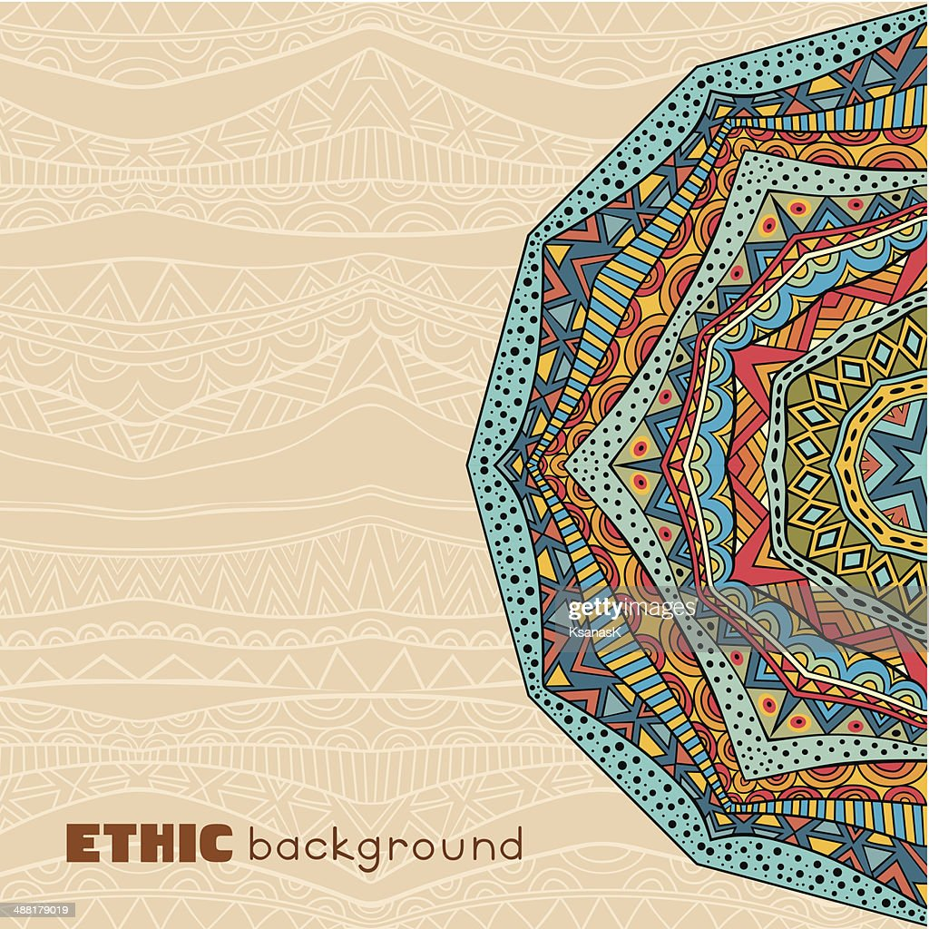 Bright Ethnic Background