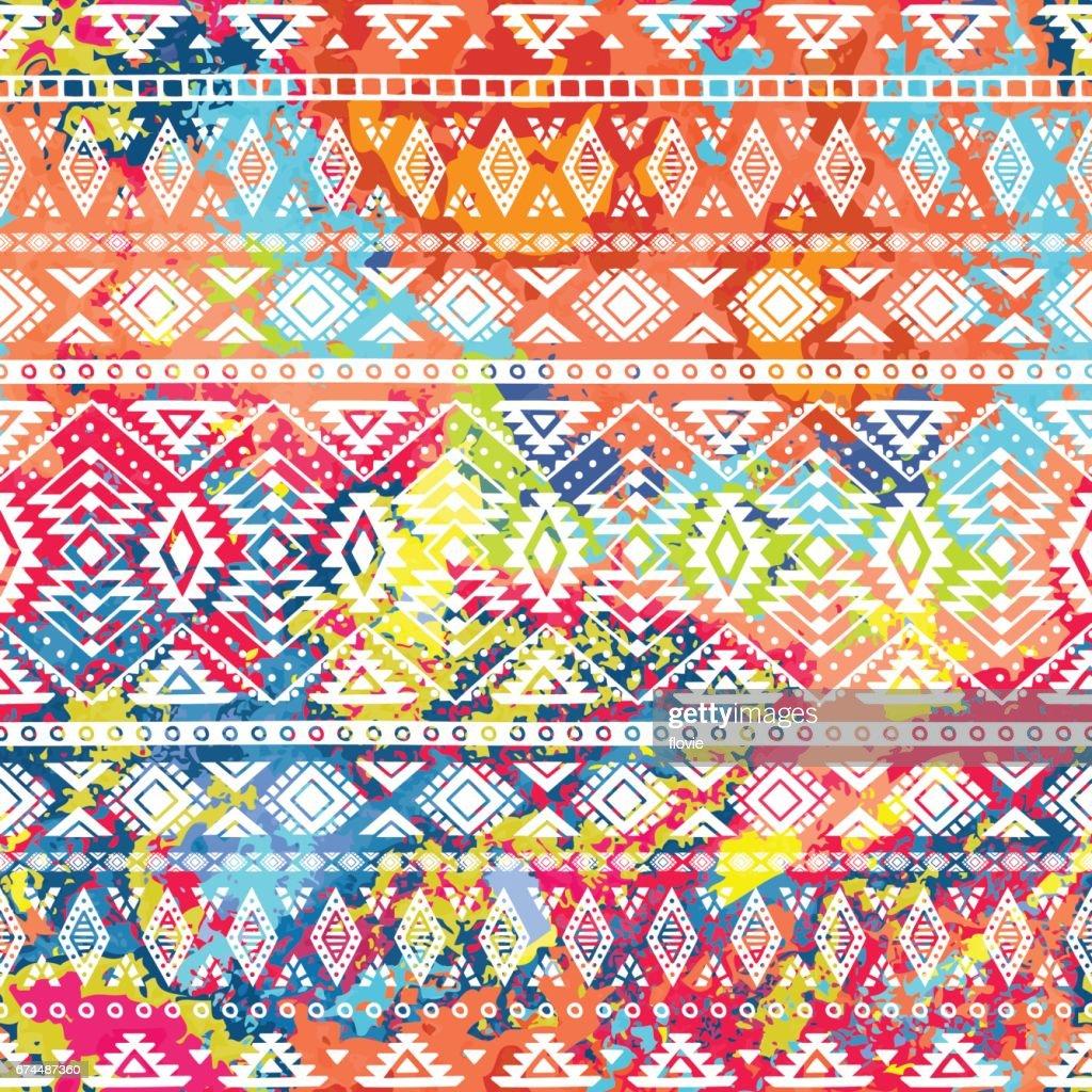 Bright ethnic pattern.