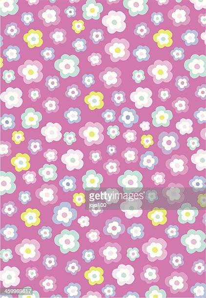 Bright Floral Pink Pattern