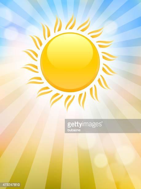 hell leuchtende sonne auf abstrakte himmel vektor hintergrund - corona sun stock-grafiken, -clipart, -cartoons und -symbole