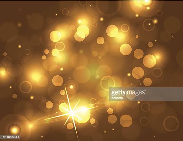 Bright Golden Glittering Vector background