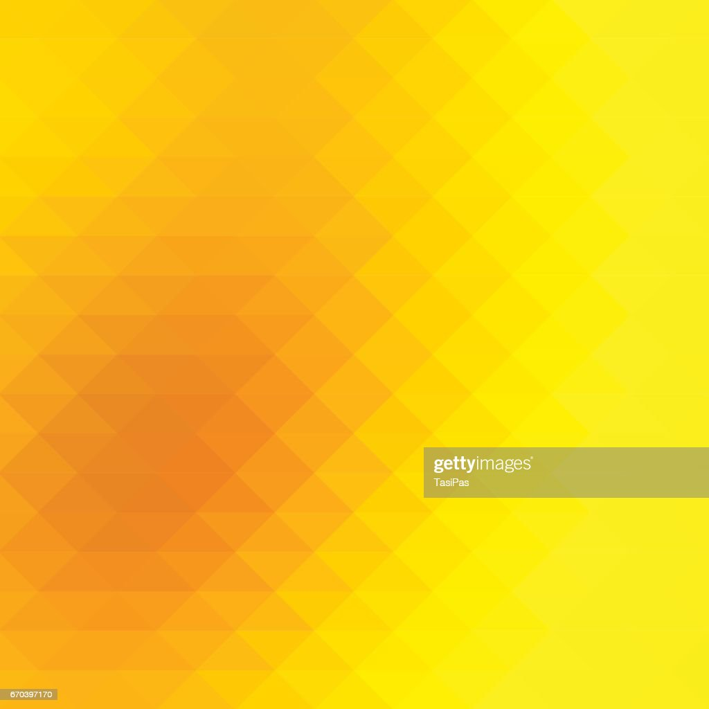 Bright golden yellow rows of triangles background, square