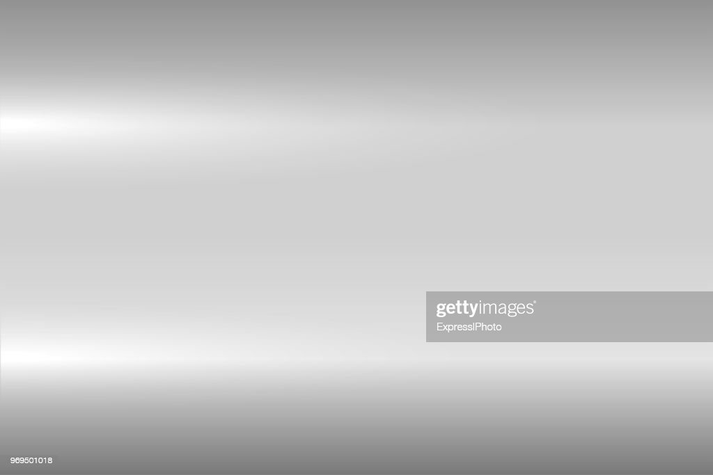 Bright gray metallic texture. Shiny polished metal surface. Vector background