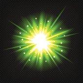 Bright green explosion