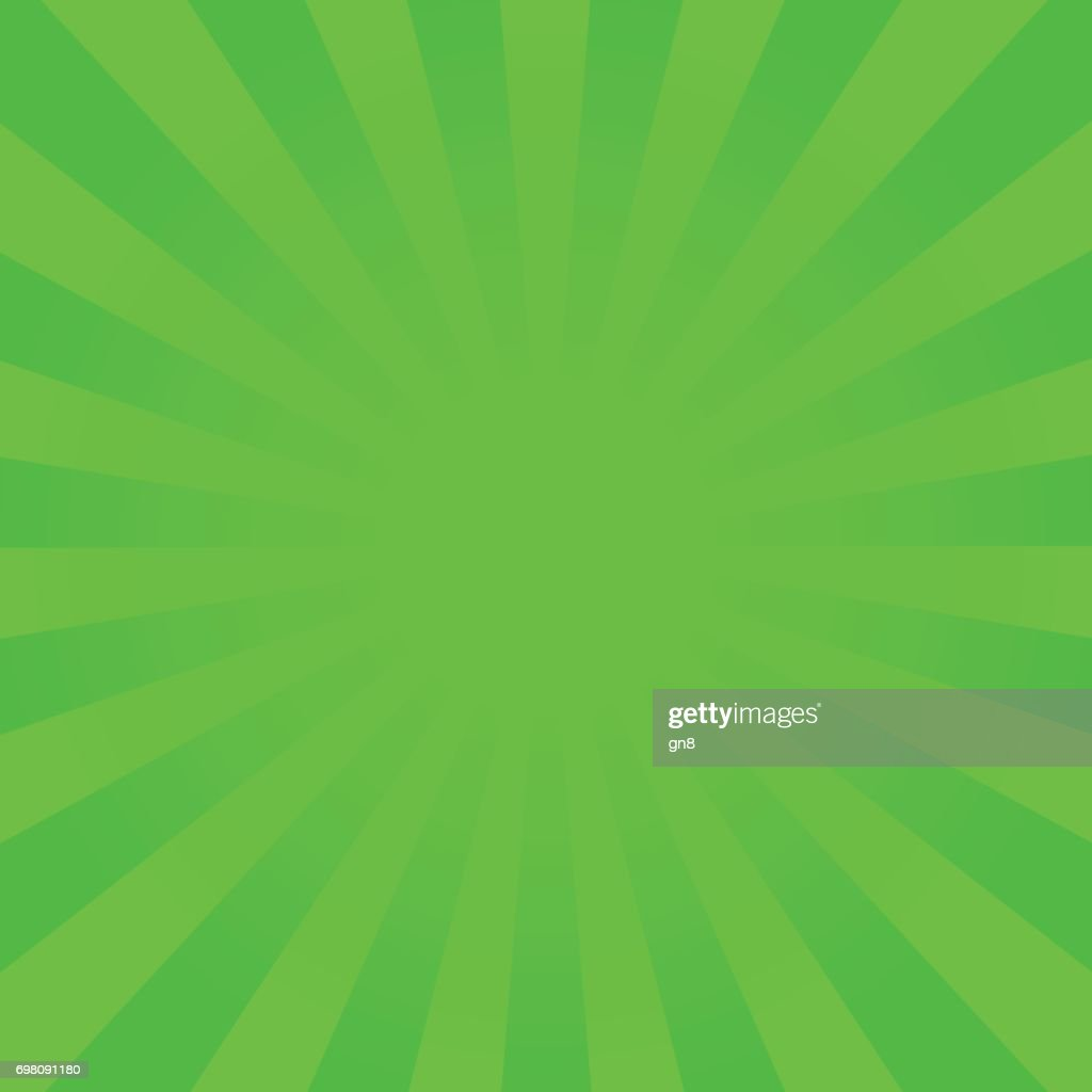 Bright green rays background.