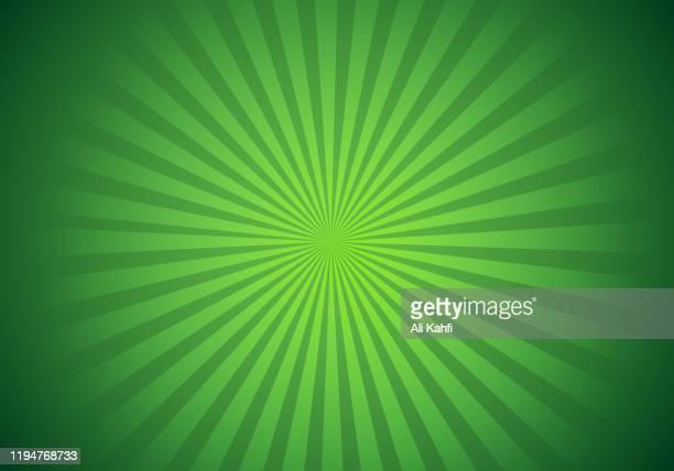 helle grüne strahlen sunburst vektor hintergrund - lichtstrahl stock-grafiken, -clipart, -cartoons und -symbole