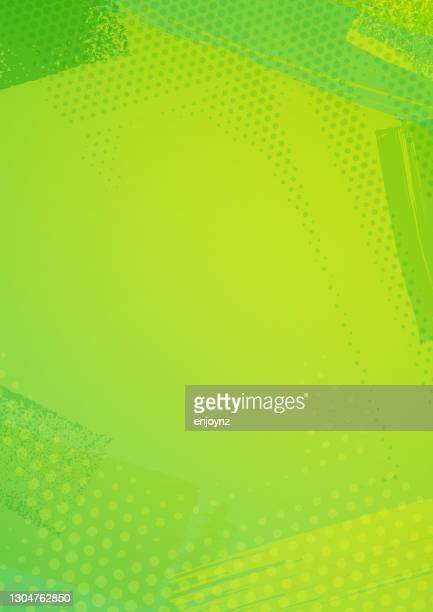 ilustrações de stock, clip art, desenhos animados e ícones de bright green textured frame background - vertical