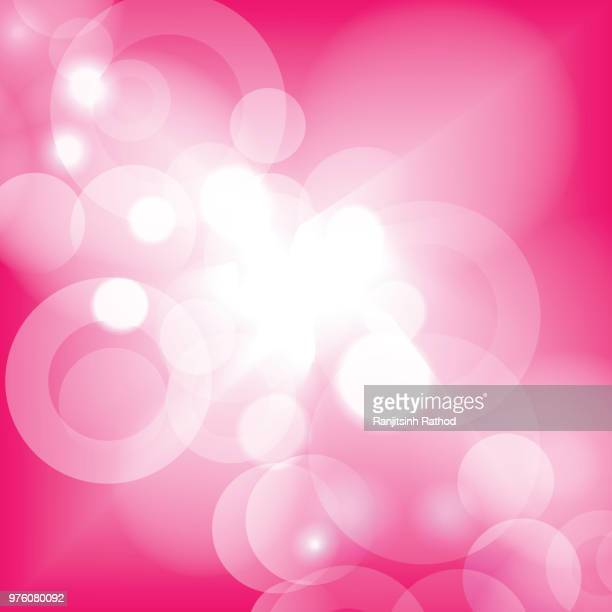 bright high key bokeh dot background - pink background stock illustrations, clip art, cartoons, & icons