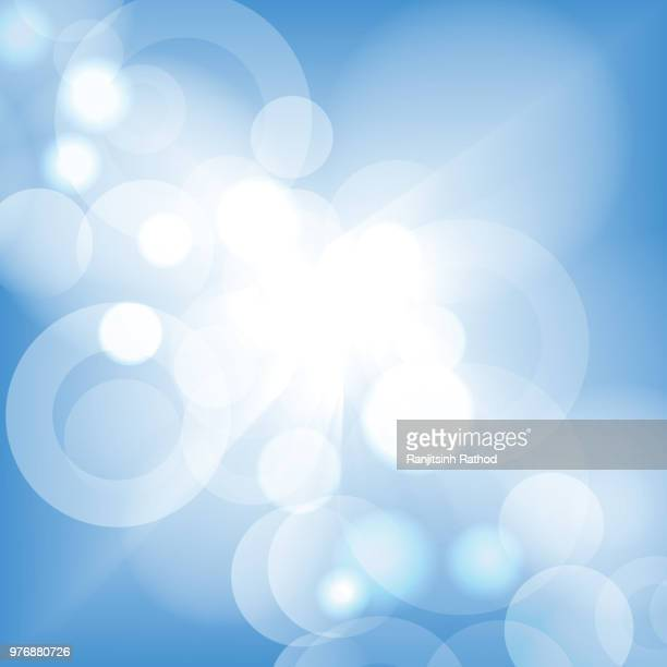 bright high key bokeh dot background - focus on foreground stock illustrations