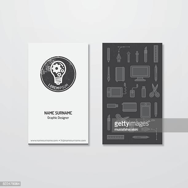 Une idée lumineuse et logo conception de la carte affaires
