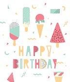 Bright illustration for birthday