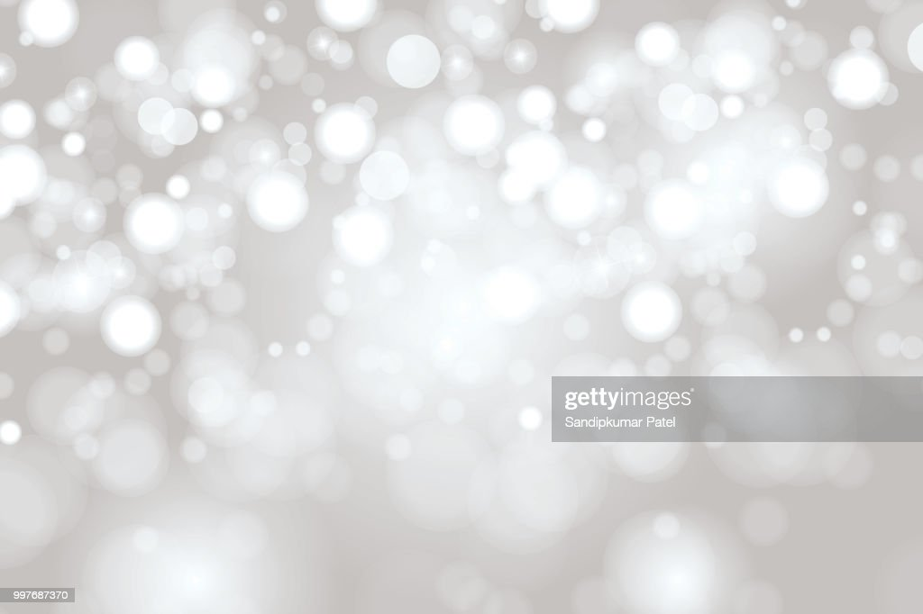 Bright Light grey high key bokeh dot background : stock illustration
