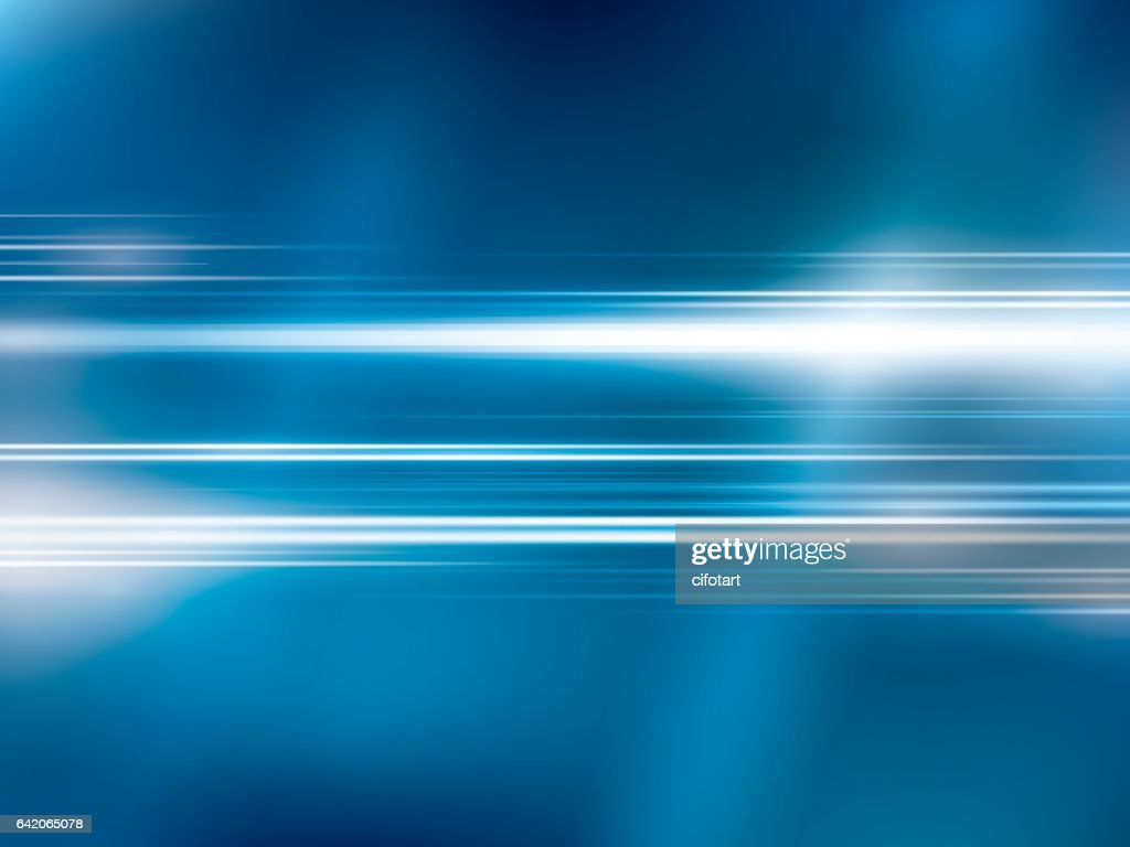 Bright lights on blue abstract background vector