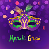 Bright Mardi Gras background
