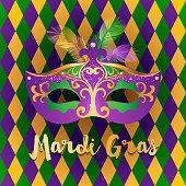 Bright Mardi Gras background