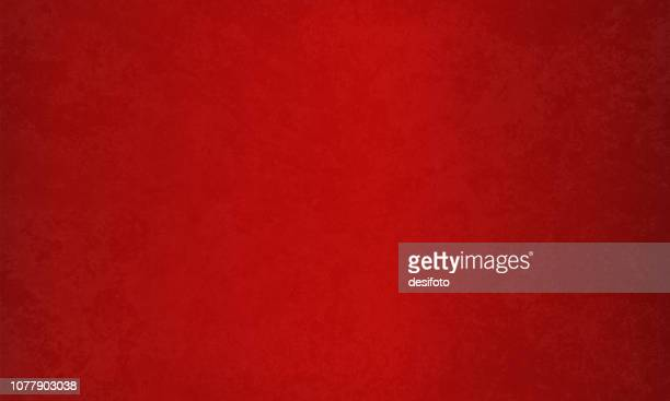 bright maroon, deep red colored blotched effect wall texture grunge christmas vector background- horizontal - red stock illustrations