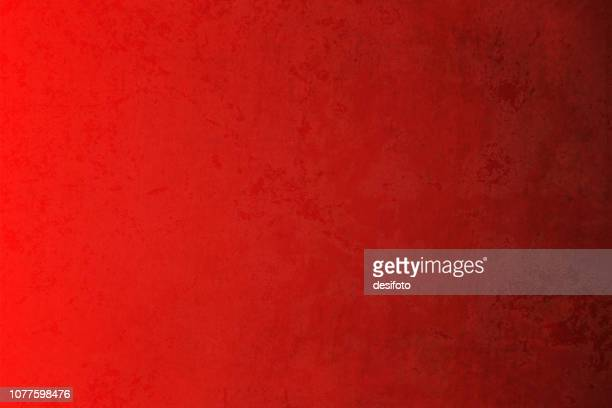 bright maroon, deep red colored cracked effect wall texture grunge vector background- horizontal. dark blackish grunge merges into the red background towards  the right in the horizontal frame. - papyrus paper stock illustrations
