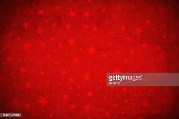 bright maroon, deep red colored cracked effect wall texture xmas vector starry background, wallpaper- horizontal. plain red stars and swirls over grunge. - wrapping paper stock illustrations