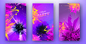 Bright multicolored templates for night party event