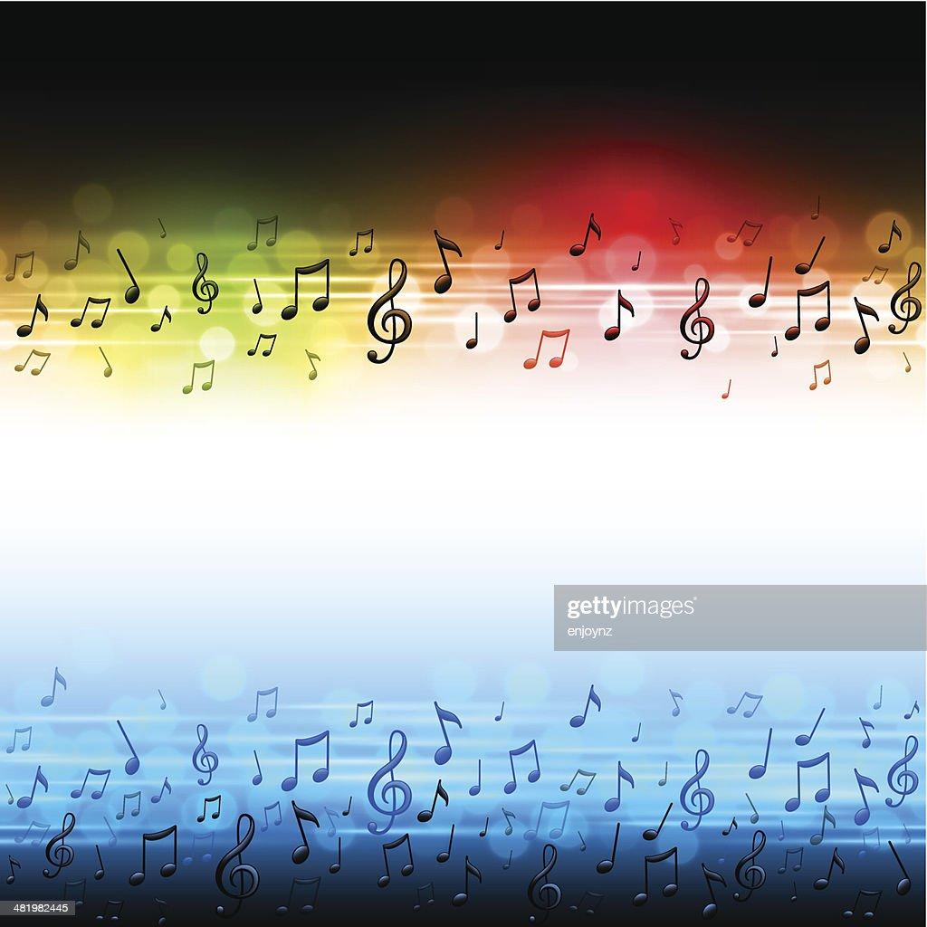 Bright music background : stock illustration