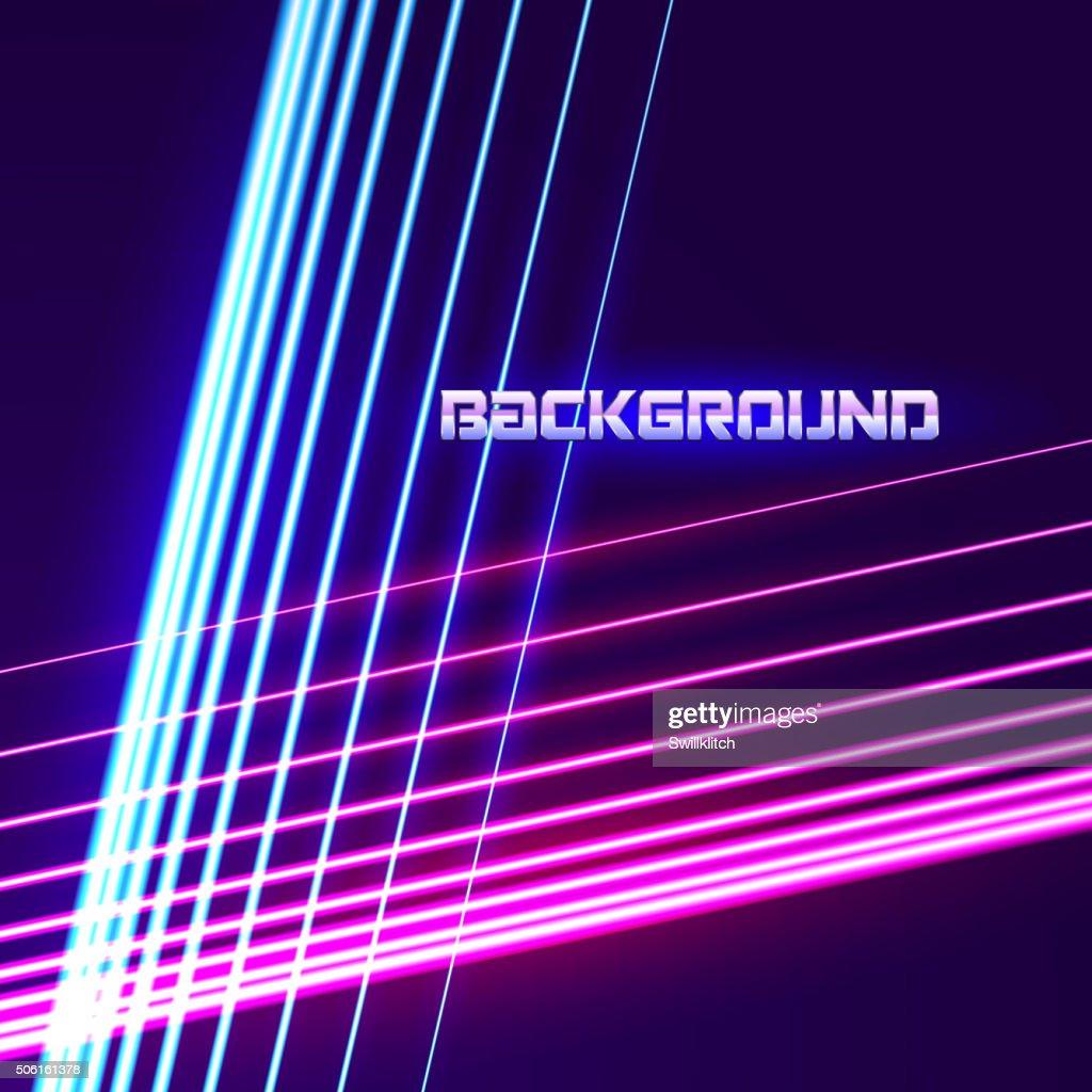 Bright neon lines background