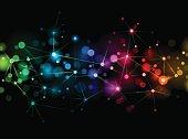 Bright network background