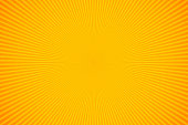 Bright orange and yellow rays vector background