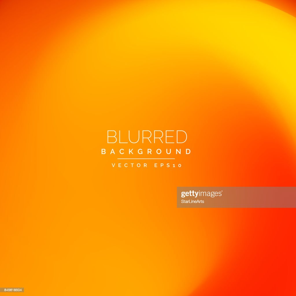 bright ornage blurred background