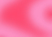 Bright pink and magenta pop art retro background with halftone in comic style, vector illustration eps10