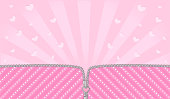 Bright pink striped on pale background for a themed party in style LOL doll surprise.