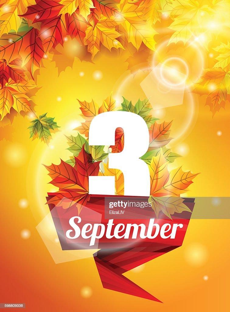 bright poster on September