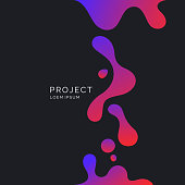 Bright poster with splatter. Illustration minimal flat style