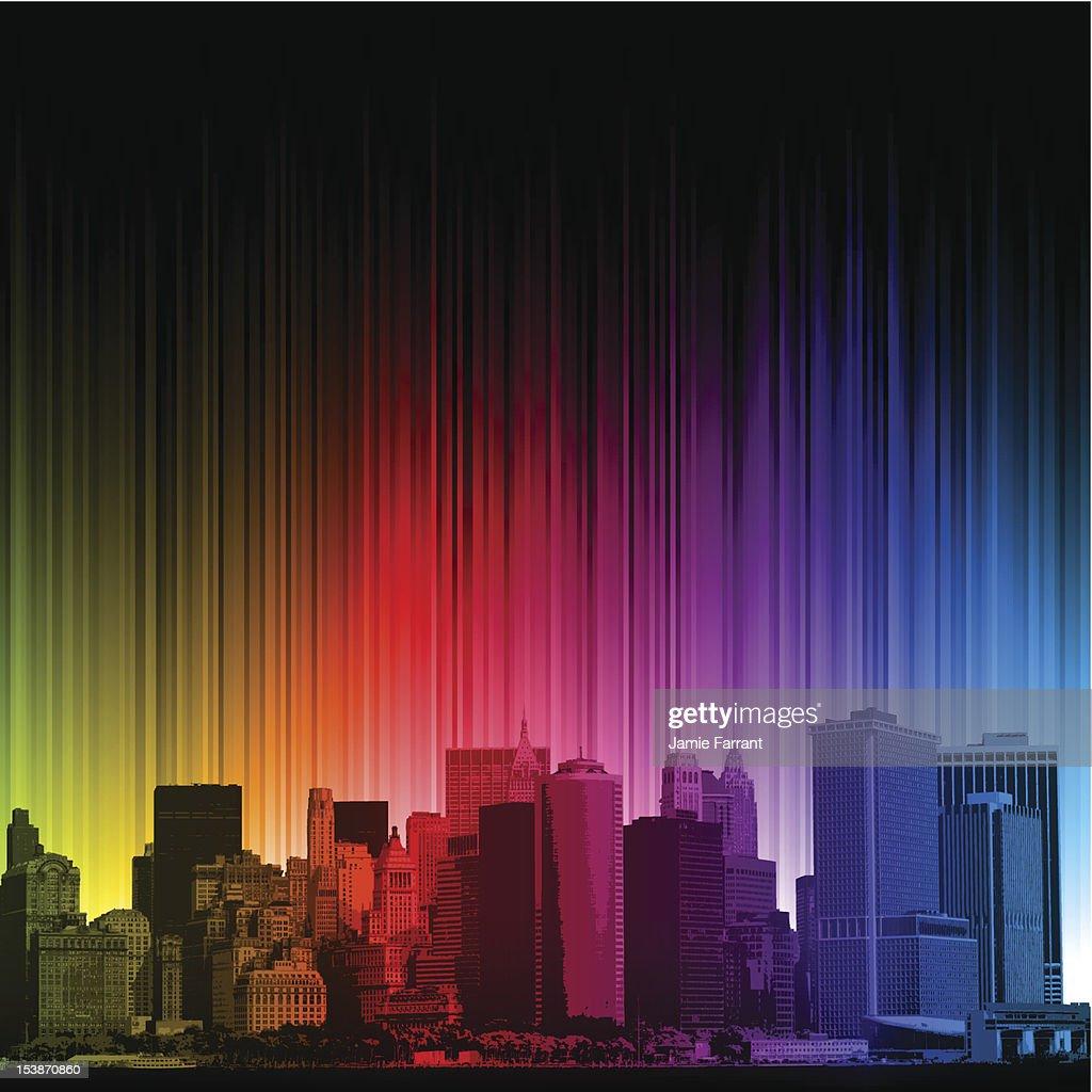 Bright rainbow New York City