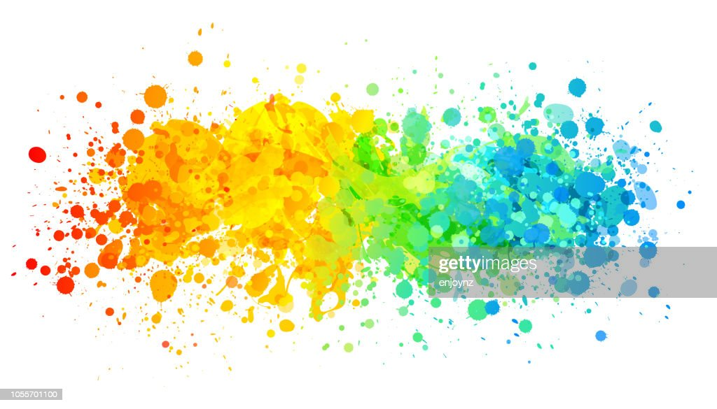 明るい虹スプラッシュ ペイント : ストックイラストレーション