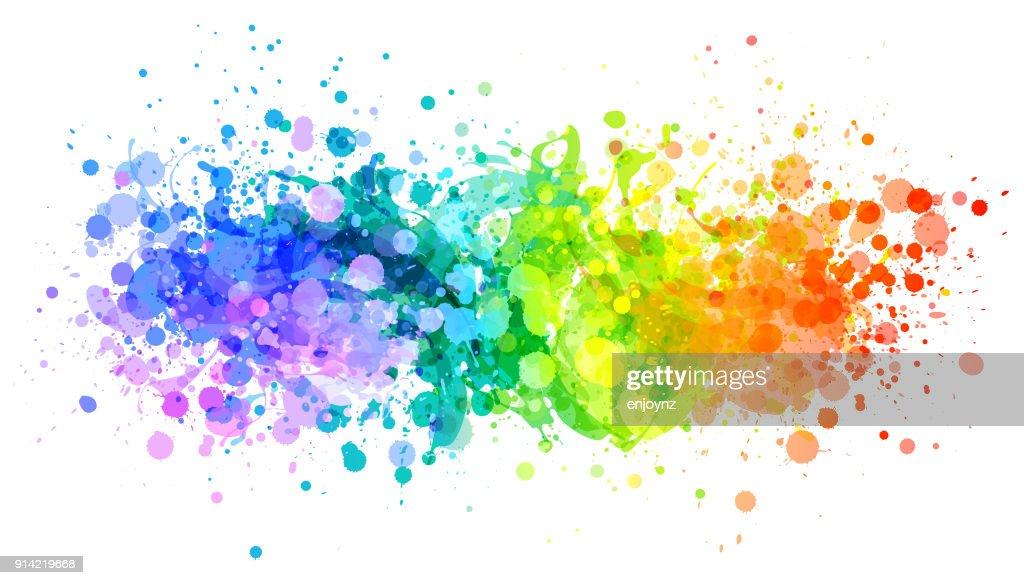 Leuchtenden Regenbogen Farbe Splash Vektor : Stock-Illustration