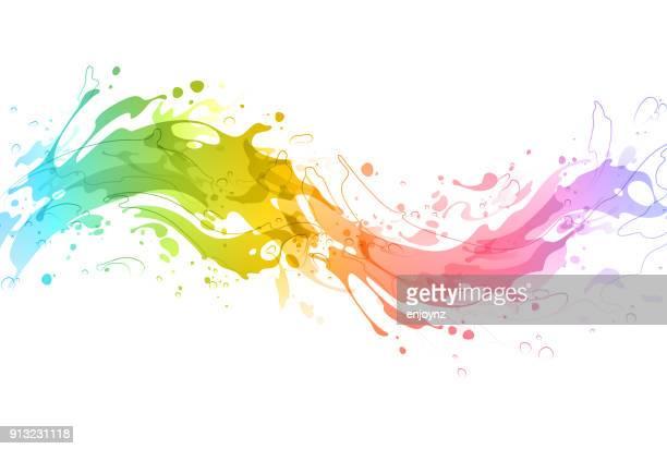 Bright Rainbow splash vectors