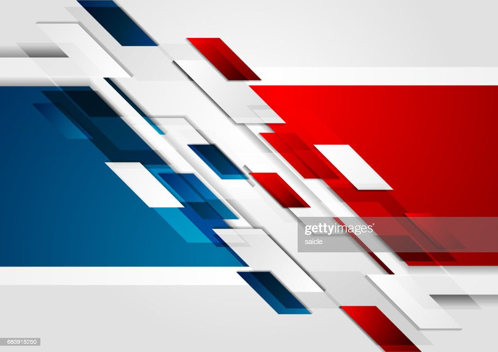 Bright red blue tech corporate background