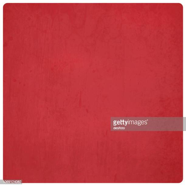 bright red colored, wall texture grunge vector background ideal for xmas - illustration with rounded corners - grainy stock illustrations, clip art, cartoons, & icons