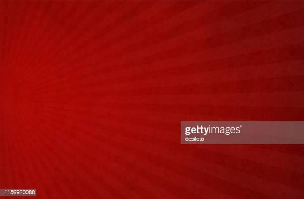 ilustrações de stock, clip art, desenhos animados e ícones de bright red half sunburst - vector background - illustration - cor de vinho
